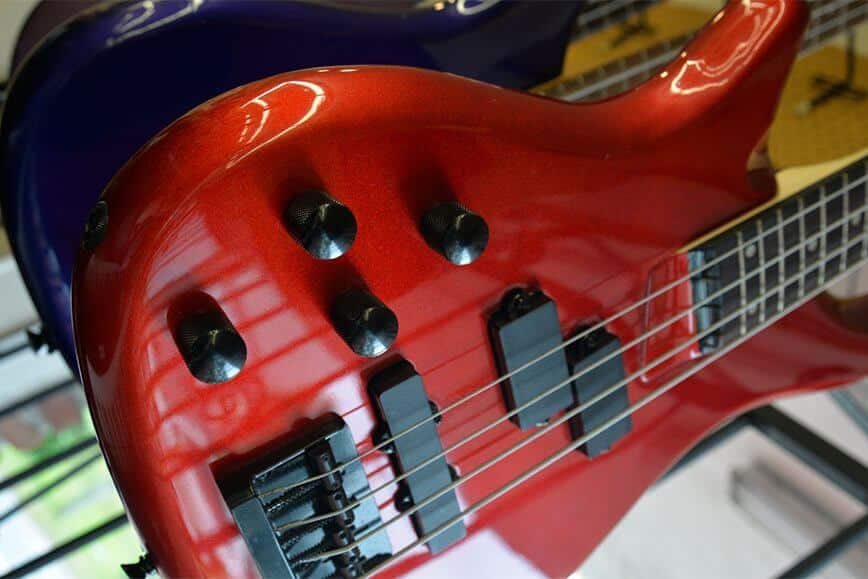 Red Bass Guitar