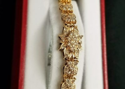 Yeloow Gold and Diamond Bracelet