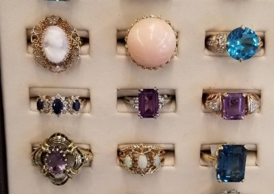 Rings Precious and Semi Precious stones